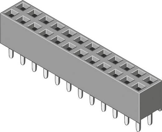 Female connector (standaard) Aantal rijen: 2 Aantal polen per rij: 3 MPE Garry 094-2-006-0-NFX-YS0 520 stuks