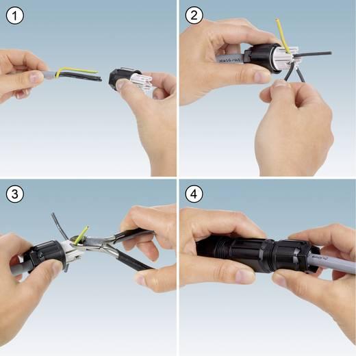 QUICKON-ONE kabelverbinder Aantal polen: 4 + PE Kabelverbinder 1403838 Phoenix Contact 1 stuks