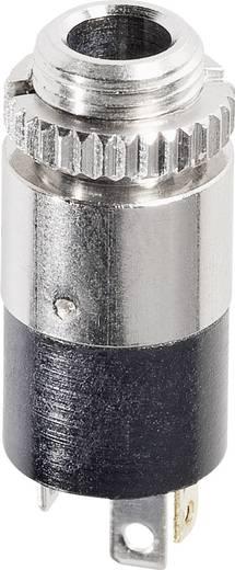 Hicon HI-J35SEF Jackplug 3.5 mm Bus, inbouw verticaal Aantal polen: 3 Stereo Zilver 1 stuks