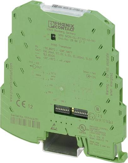 Phoenix Contact MINI MCR-SL-PT100-UI-NC Configureerbare temperatuurmeetomvormer voor Pt 100 2864273
