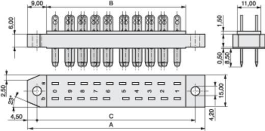 MPE Garry 383-1-012-SBN-ZS Male connector Totaal aantal polen 12 Aantal rijen 2 20 stuks