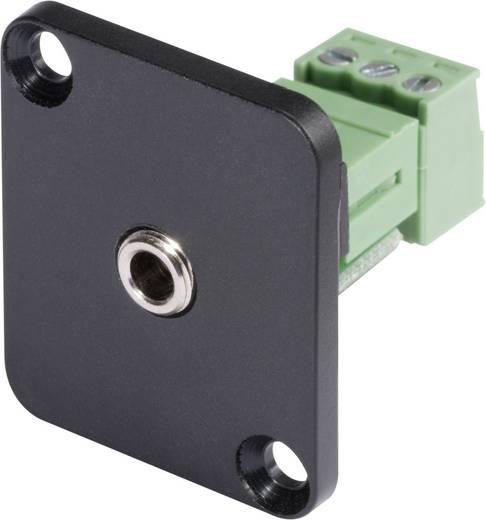 Jackplug 3.5 mm Flensbus, contacten recht Hicon HI-J35SEFD-S Stereo Aantal polen: 3