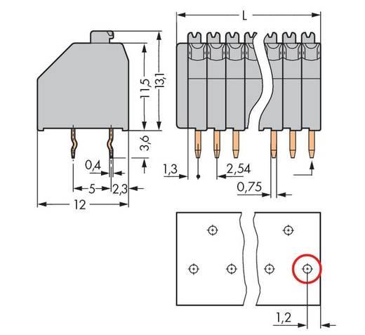 Veerkachtklemblok 0.50 mm² Aantal polen 15 WAGO Grijs 120 stuks