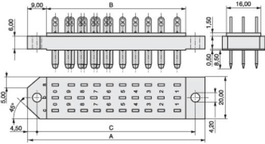 MPE Garry 383-2-030-ABN-ZS Male connector Totaal aantal polen 30 Aantal rijen 3 10 stuks