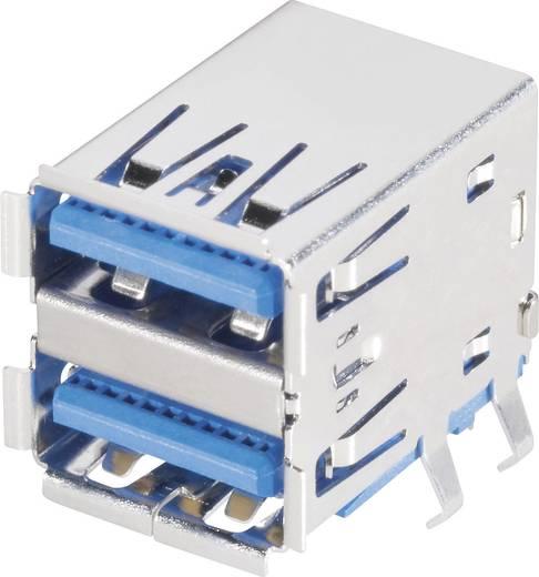 BKL Electronic 10120293 USB 3.0-connectoren 2-voudige inbouwbus type A, haaks Bus, inbouw 1 stuks