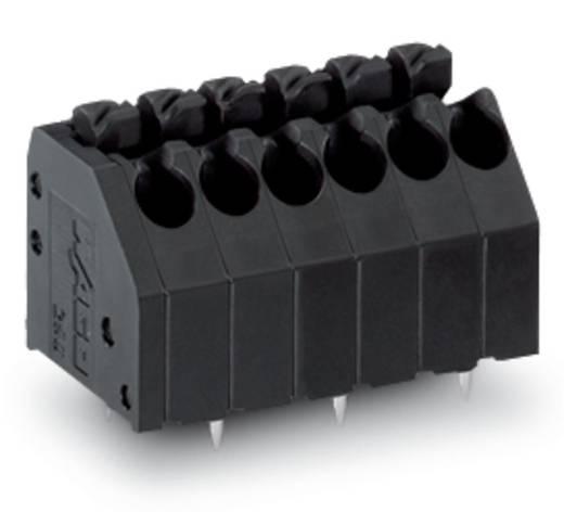 Veerkachtklemblok 1.50 mm² Aantal polen 4 WAGO Zwart 300 stuks