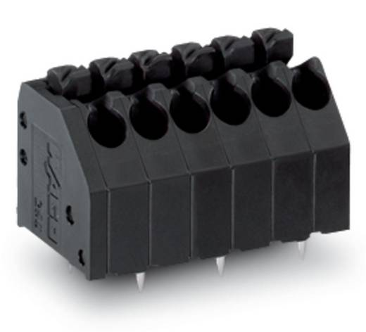 Veerkachtklemblok 1.50 mm² Aantal polen 7 BARR BORNE CI 3,5MM 7 P/DECAL/NOIR WAGO Zwart 180 stuks