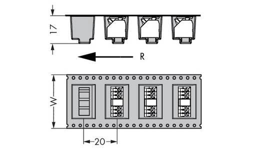 Veerkachtklemblok 1.50 mm² Aantal polen 7 250-207 / 353-604 / 997-406 WAGO Zwart 160 stuks