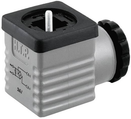 HTP G1GU2RV1 Ventielconnector met bruggelijkrichter Grijs Aantal polen:2 + PE Inhoud: 1 stuks
