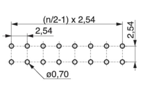 Female header (precisie) Aantal rijen: 2 Aantal polen per rij: 18 MPE Garry 115-3-036-0-MTF-XS0 100 stuks