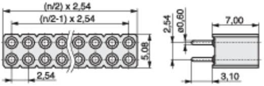 Female header (precisie) Aantal rijen: 2 Aantal polen per rij: 36 MPE Garry 115-3-072-0-MTF-XS0 125 stuks