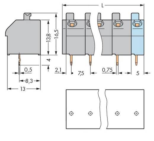 Veerkachtklemblok 1.00 mm² Aantal polen 5 250-605 / 000-006 WAGO Blauw 120 stuks