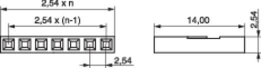 Busbehuizing-kabel BLC Totaal aantal polen 12 MPE Garry 430-1-012-X-KS0 Rastermaat: 2.54 mm 1000 stuks