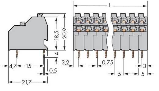 Dubbeldeksklem 1.00 mm² Aantal polen 4 250-702 WAGO Grijs 264 stuks