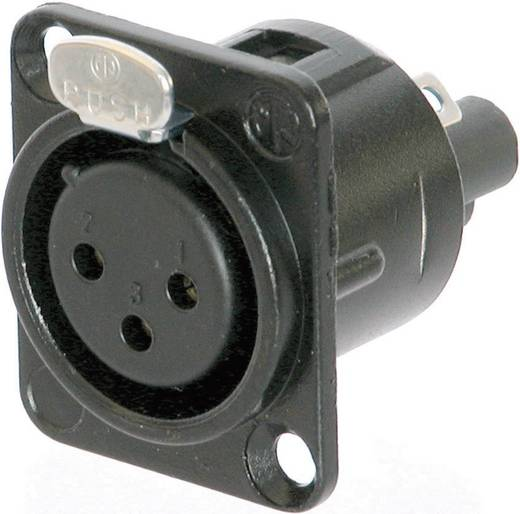 Neutrik NC3FD-S-B-1 XLR-connector Flensbus, contacten recht Aantal polen: 3 Zwart 1 stuks