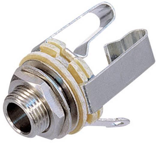 Rean AV NYS 230 Jackplug 6.35 mm Bus, inbouw verticaal Aantal polen: 3 Stereo Zilver 1 stuks