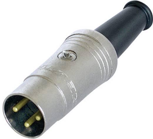 Rean NYS321G DIN-connector Stekker, recht Aantal polen: 3 Zwart 1 stuks