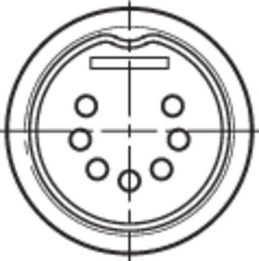 DIN-connector Stekker, recht Rean NYS323 Aantal polen: 7