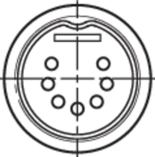 Rean NYS323 DIN-connector Stekker, recht Aantal polen: 7 Zwart 1 stuks