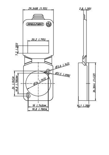 Neutrik SCDX9 Afdichtingsklep Wit 1 stuks