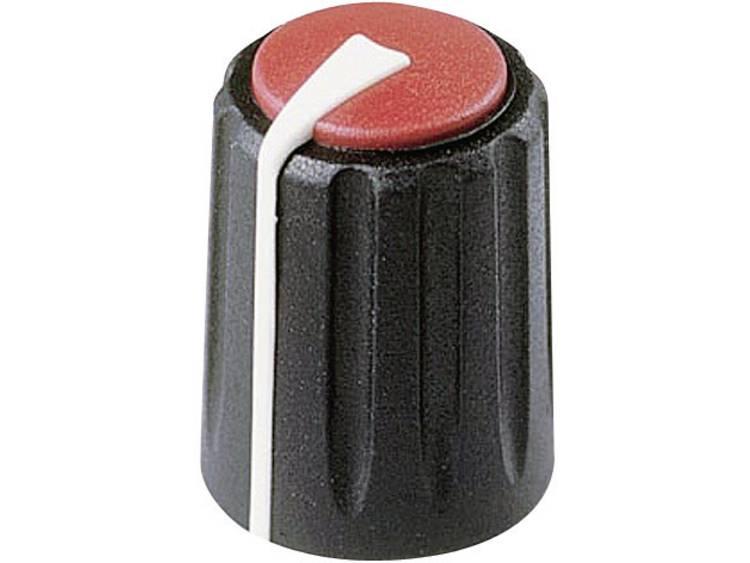 Rean F 317 S 092 Draaiknop Zwart/rood (Ã x h) 17 mm x 17.75 mm 1 stuks