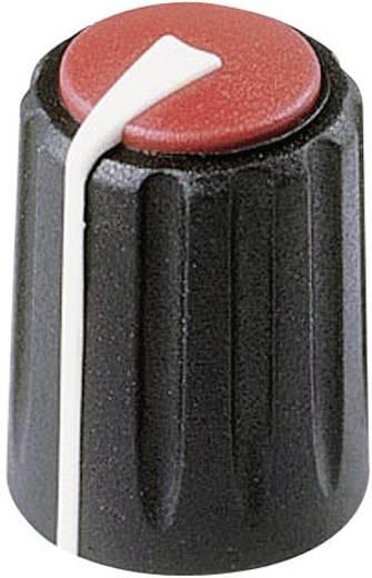 Rean F 311 S 092 Draaiknop Zwart/rood (Ø x h) 11 mm x 15.15 mm 1 stuks
