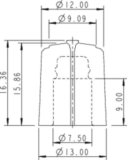 Rean F 313 S 092 Draaiknop Zwart/rood (Ø x h) 13 mm x 16.63 mm 1 stuks