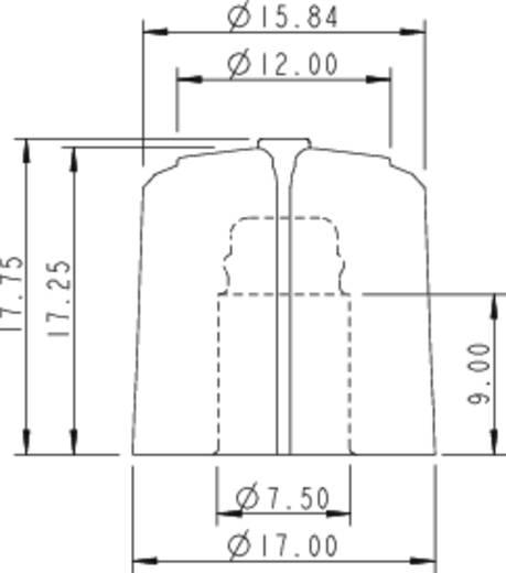 Rean F 317 S 092 Draaiknop Zwart/rood (Ø x h) 17 mm x 17.75 mm 1 stuks