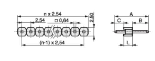 Male header (standaard) Aantal rijen: 1 Aantal polen per rij: 10 MPE Garry 087-1-010-0-S-XS0-1260 1000 stuks