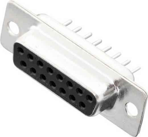 MH Connectors MHDD15-F-T-B-S D-SUB bus connector 180 ° Aantal polen: 15 Solderen 1 stuks