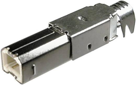 BKL Electronic 10120099 USB-stekker voor zelf assembleren Type B (A-USBPB-N) Stekker, recht 1 stuks