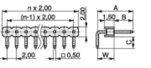 Male header (standaard) Aantal rijen: 1 Aantal polen per rij: 10 MPE Garry 332-1-010-0-F-XS0-0700 1000 stuks