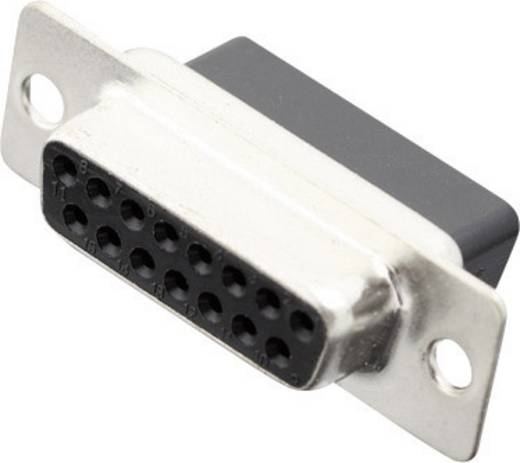 MH Connectors MHDBC15-SS D-SUB bus connector 180 ° Aantal polen: 15 Crimp 1 stuks