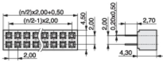 Female connector (standaard) Aantal rijen: 2 Aantal polen per rij: 3 MPE Garry 156-3-006-0-NFX-YS0 522 stuks