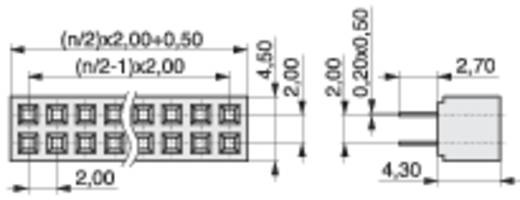 Female header (standaard) Aantal rijen: 2 Aantal polen per rij: 3 MPE Garry 156-3-006-0-NFX-YS0 522 stuks