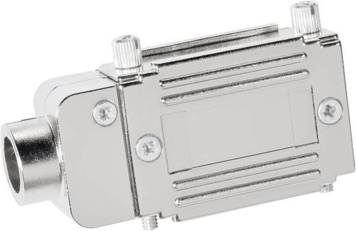 Provertha 77252M D-SUB adapterbehuizing Aantal polen: 25 Kunststof, gemetalliseerd 90 ° Zilver 1 stuks