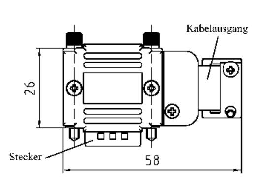 Provertha 77152M D-SUB adapterbehuizing Aantal polen: 15 Kunststof, gemetalliseerd 90 ° Zilver 1 stuks