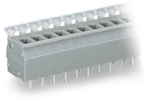 Veerkachtklemblok 2.50 mm² Aantal polen 7 WAGO Grijs 120 stuks