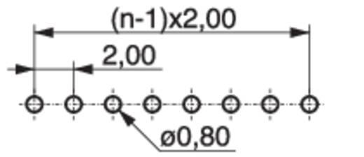 Female header (standaard) Aantal rijen: 1 Aantal polen per rij: 6 MPE Garry 159-1-006-0-NFX-YS0 540 stuks