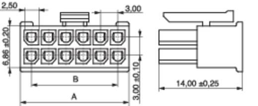 MPE Garry 433-2-012-X-KS0 Busbehuizing-kabel BLC Totaal aantal polen 12 Rastermaat: 3 mm 1000 stuks
