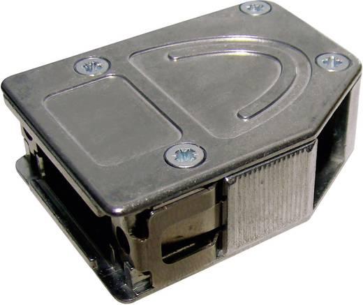 Provertha 10415DC001 D-SUB behuizing Aantal polen: 15 Metaal 180 °, 45 °, 45 ° Zilver 1 stuks