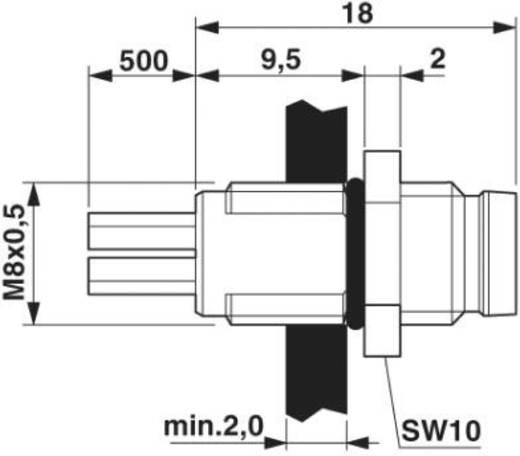 Phoenix Contact SACC-E-M 8MS-3CON-M8/0,5 1500334 M8 Sensor-/actor inbouwstekker Aantal polen: 3 Inhoud: 1 stuks