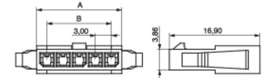 Penbehuizing-kabel STL Totaal aantal polen 2 MPE Garry 434-1-002-X-KS0 Rastermaat: 3 mm 1000 stuks