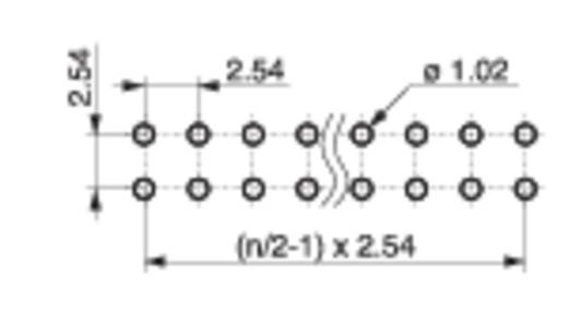 Male header (standaard) Aantal rijen: 2 Aantal polen per rij: 20 MPE Garry 088-2-040-0-S-XS0-1080 300 stuks