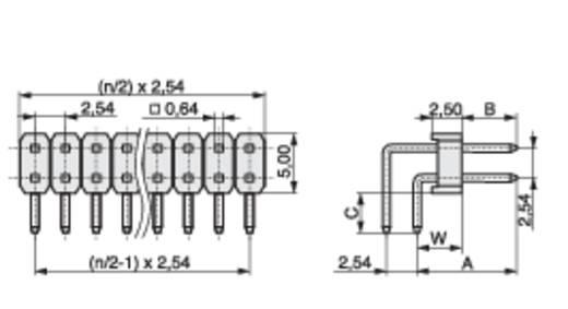 Male header (standaard) Aantal rijen: 2 Aantal polen per rij: 4 MPE Garry 088-2-008-0-S-XS0-1080 1600 stuks