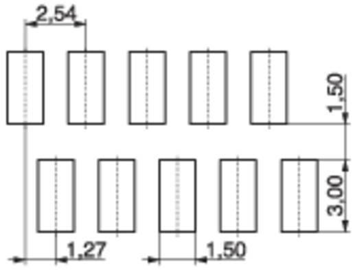 MPE Garry 374-2-008-0-NTX-KT0 Busbehuizing-board BL Rastermaat: 1.27 mm 205 stuks