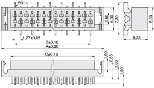 MPE Garry 374-2-020-0-NTX-KT0 Busbehuizing-board BL Rastermaat: 1.27 mm 120 stuks