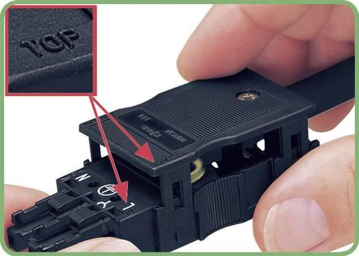 Netstekker Serie (connectoren) WINSTA MINI Bus, recht Totaal aantal polen: 2 16 A Zwart WAGO 1 stuks