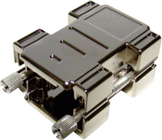 Provertha 87254M001 D-SUB adapterbehuizing Aantal polen: 25 Kunststof, gemetalliseerd 180 ° Zilver 1 stuks