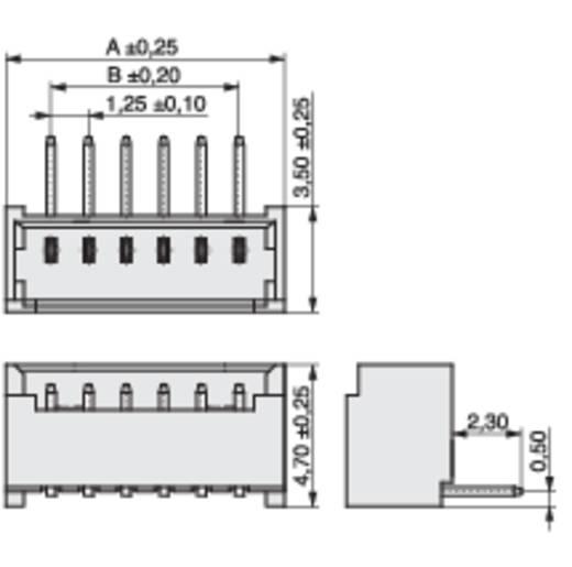 Male header (standaard) STL Totaal aantal polen 15 MPE Garry 426-2-015-0-T-KS0 Rastermaat: 1.25 mm 493 stuks
